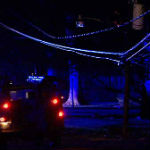 Driver Crashes Into Power Poles, House And Flees The Scene