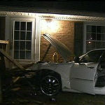 Driver Ran Away After Crashing Into Parked Car, House